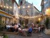 Autignac Square and Cafe-Bar at Night